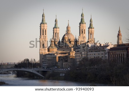 el pilar, church in zaragoza, spain