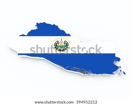 el salvador flag on 3d maps