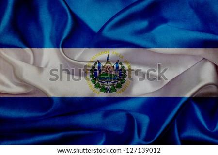 El Salvador grunge waving flag - stock photo