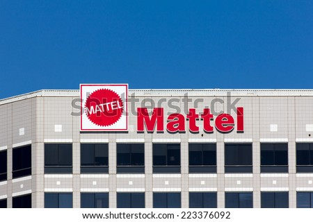 EL SEGUNDO, CA/USA - OCTOBER 13, 2014: Mattel world corporate headquarters building. Mattel, Inc. an American toy manufacturing company founded in 1945. - stock photo