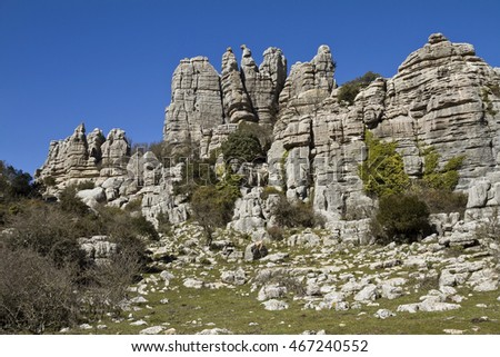 El Torcal Park is known for it's unusual limestone rock formations