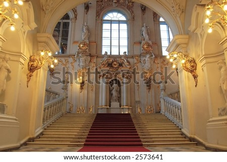 Elaborate interior, The Hermitage, Saint Petersburg, Russia