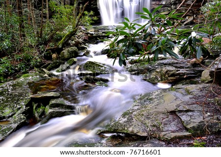 Elakala Falls, Shays Run, Blackwater Falls State Park, West Virginia, USA - stock photo