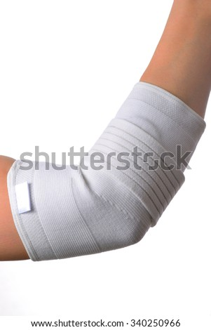 Elbow support with pressure pads - stock photo