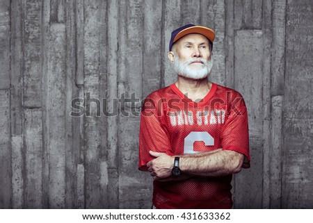 elderly age sport concept - stock photo