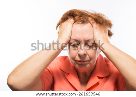 elderly woman depression