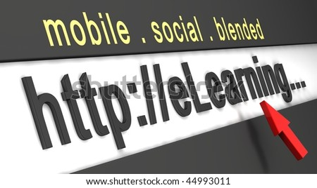 elearning for education - stock photo