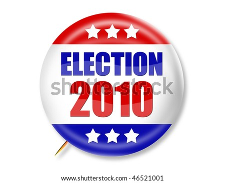 Election 2010 Button - stock photo