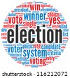 Election concept in word tag cloud on white background - stock photo