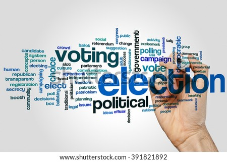 Election concept word cloud background - stock photo