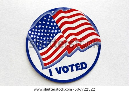 Election I Voted Sign with USA Flag