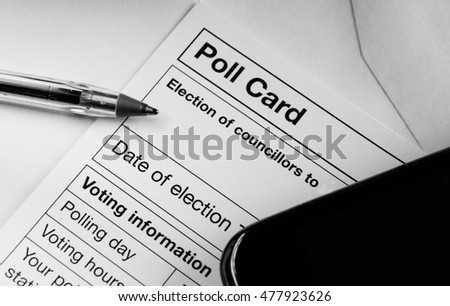Election poll card