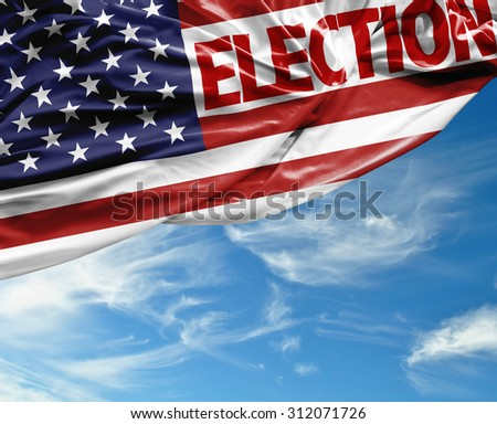 Election USA waving flag