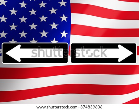 Election 2016, with american flag on background. 3d rendering - stock photo