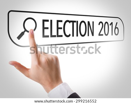 Election 2016 written in search bar on virtual screen - stock photo