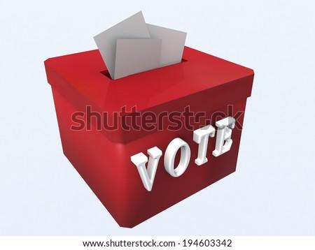 elections - ballot box - folders - vote - stock photo