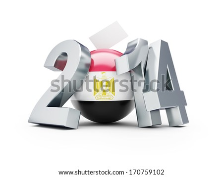 Elections in Egypt 2014 - stock photo