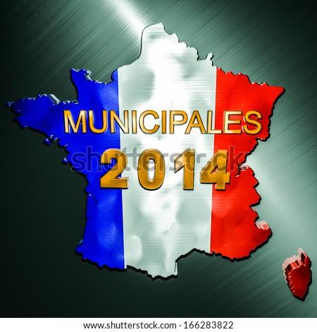 Elections Municipales 2014 - stock photo