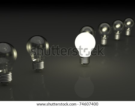 electric bulb concept
