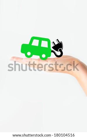 Electric car concept - stock photo