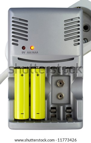 electric charger isolated with clipping path