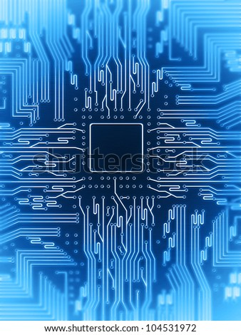 electric circuit - stock photo