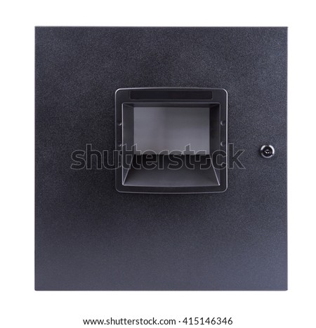 Electric control box on white background - stock photo