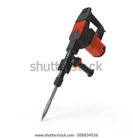 electric demolition jack hammer on white background