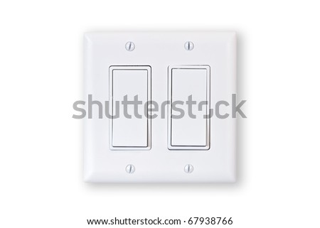 electric double switch isolated on white