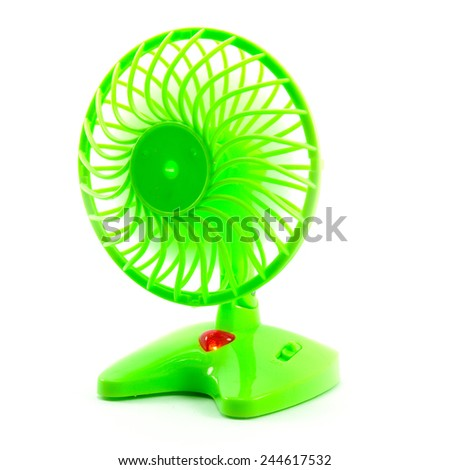 electric fan in front of white background - stock photo