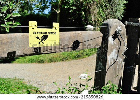 Electric fence - stock photo