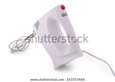 Electric food mixer. Isolated with clipping path - stock photo