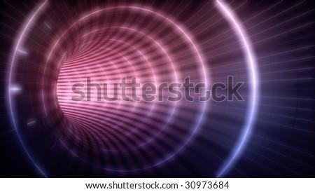 Electric Futuristic Tunnel - stock photo