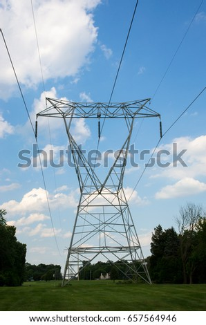 electric grid isolated electric lines or power lines