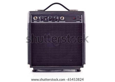 Electric Guitar Amplifier Front View - stock photo