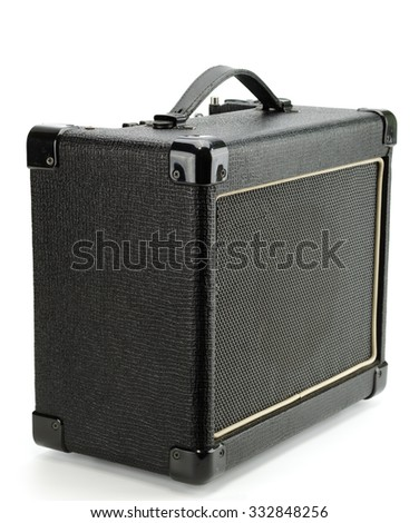 Electric guitar amplifier isolated on white background,music speaker - stock photo