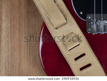Electric guitar and strap