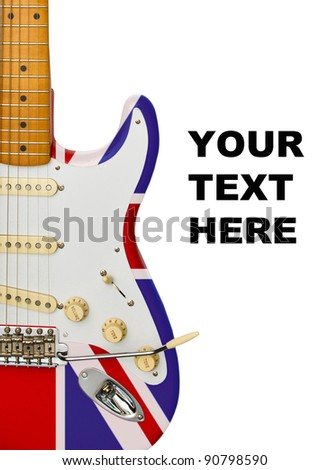 electric guitar detail for banner or advertisement - stock photo
