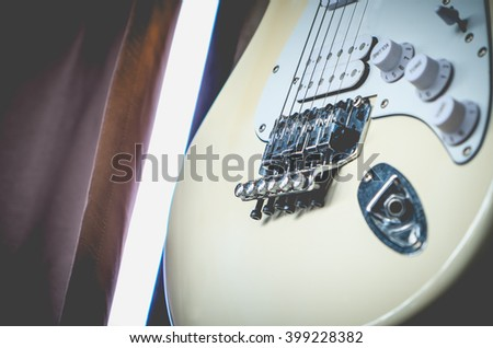 Electric guitar for background, Selective focus - stock photo