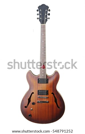 Electric guitar. Isolated on white.
