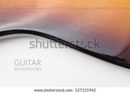 Electric guitar, music background, closeup