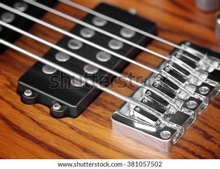 Electric guitar old wooden with impressional feeling. - stock photo