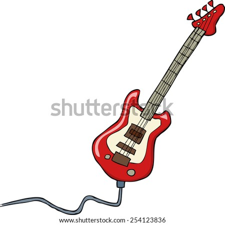 Electric guitar on a white background raster version - stock photo