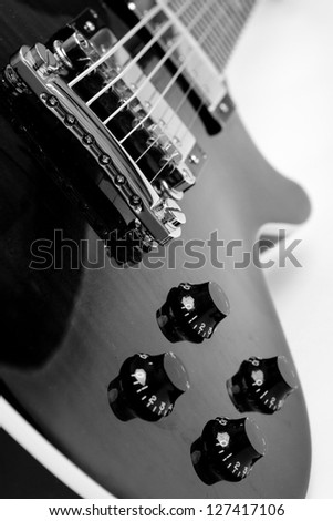 electric guitar on white background - stock photo
