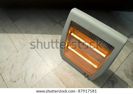 Electric heater close up - stock photo