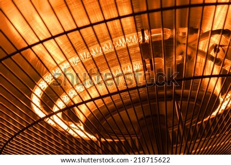 Electric heater closeup photo for the cold winter - stock photo