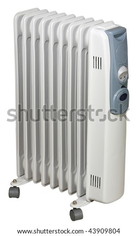 Electric Heater - isolated on white background - stock photo