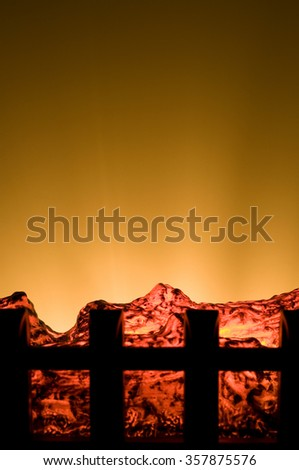 Electric Heater Similar to Fireplace - stock photo