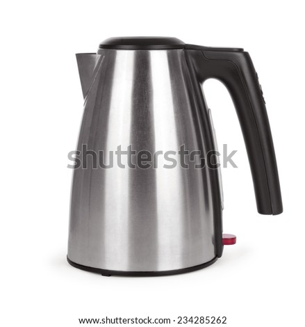 Electric kettle on a white background - stock photo