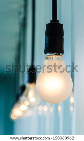 Electric lamp (Special Process) - stock photo
